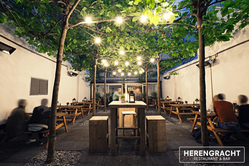 Restaurant en cafe herengracht in amsterdam voor lunch en diner - Overdekt terras voor restaurant ...