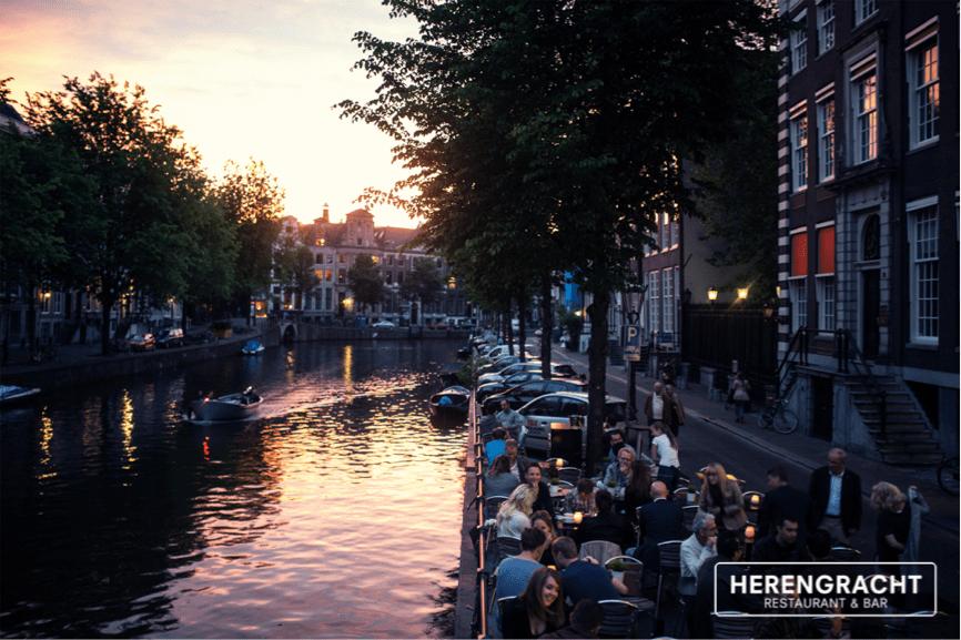 Restaurant En Cafe Herengracht In Amsterdam Voor Lunch En
