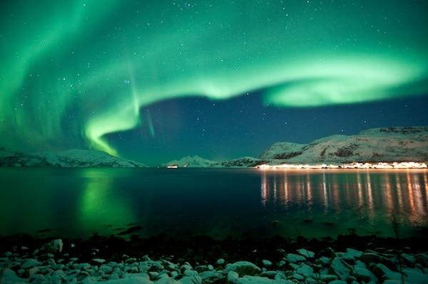 Noorderlicht, Noorwegen, winter, licht