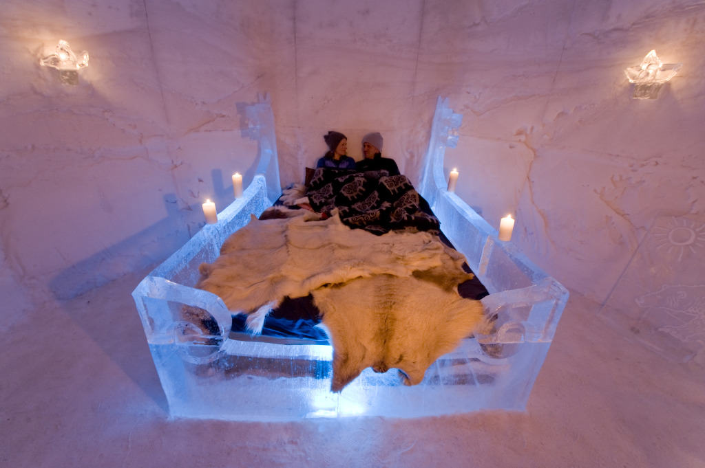 Sorrisnova Igloo Hotel, Noorwegen, hotel, ijs, winter, iglo, iglo hotel, ijshotel
