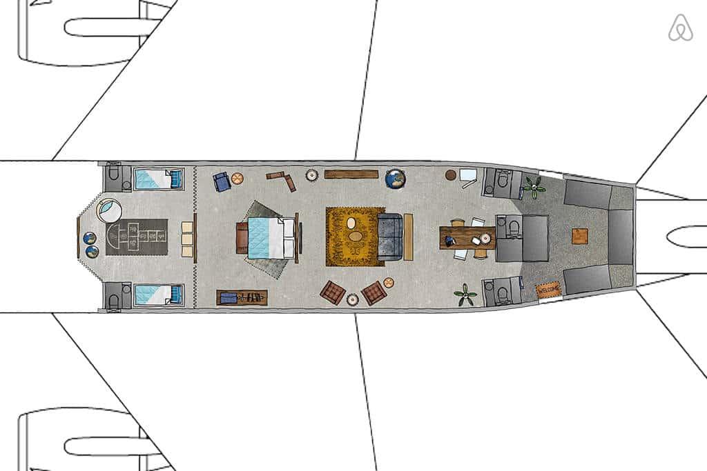 Overnachten in het klm md 11 vliegtuig met airbnb travel rumors - Vliegtuig badkamer m ...