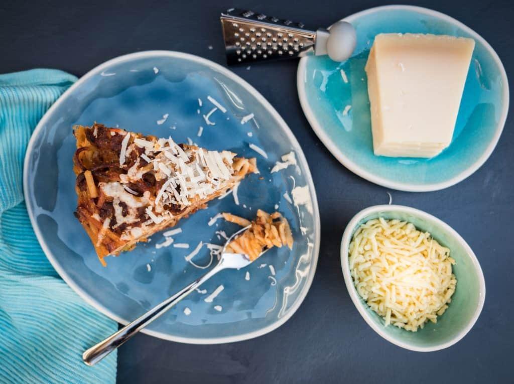 recept Italiaanse spaghetti taart