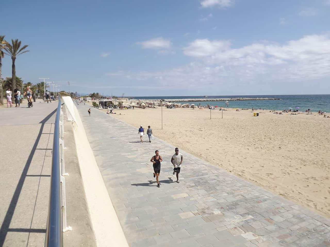 Hardlopen op reis - Barcelona boulevard