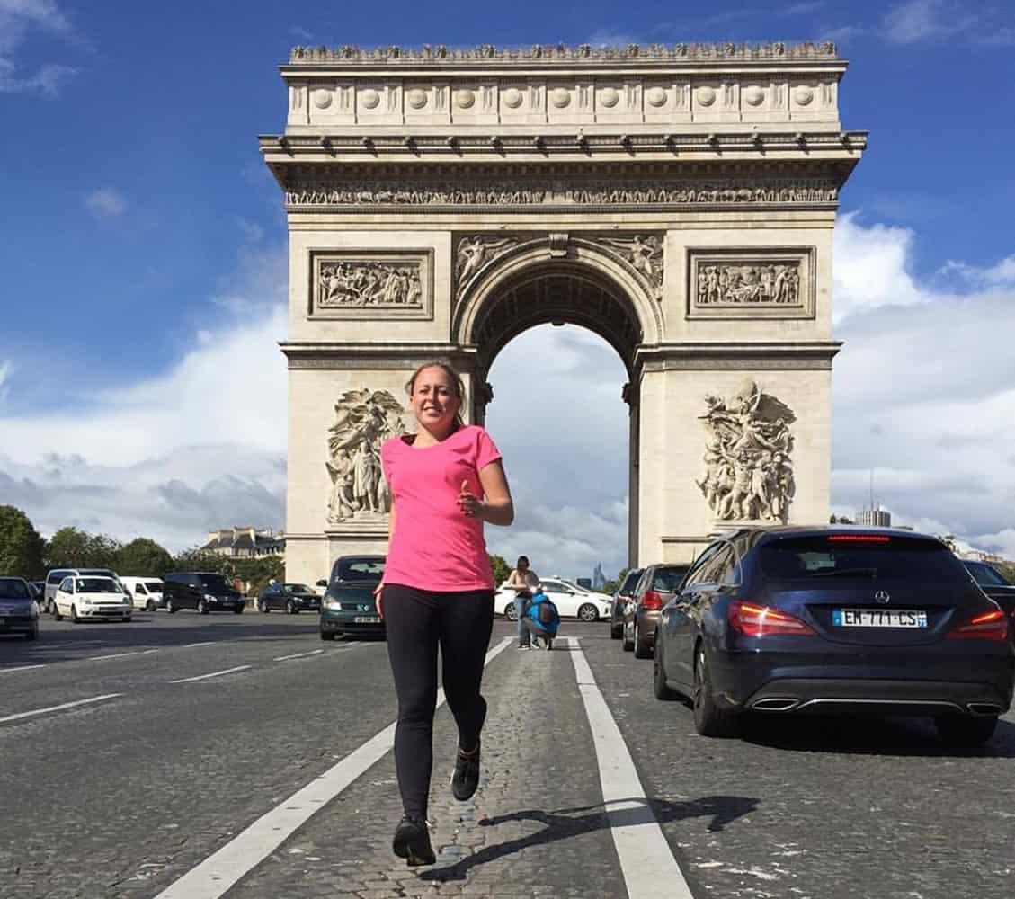 Hardlopen op reis - Parijs Arc de Triomphe