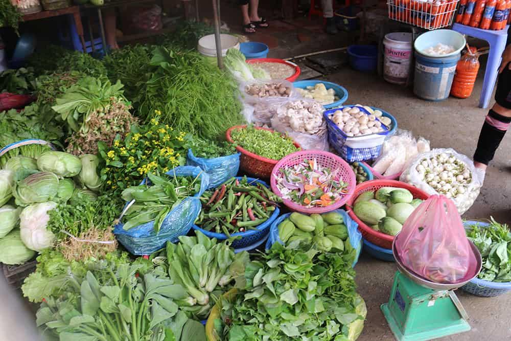 Sapa trekking Vietnam 1 - markt Sapa