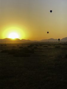 Luchtballonvaart-boven-Marrakech-uitzicht
