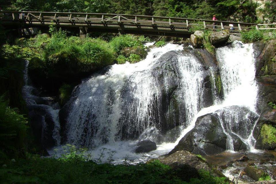 Triberger-Watervallen-bezienswaardigheden Zwarte Woud