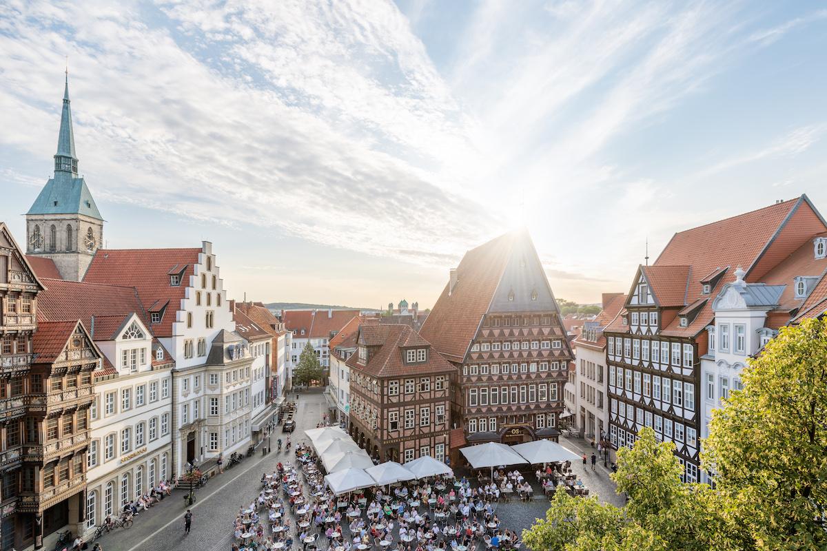 Hildesheim-duitsland-Marktplatz
